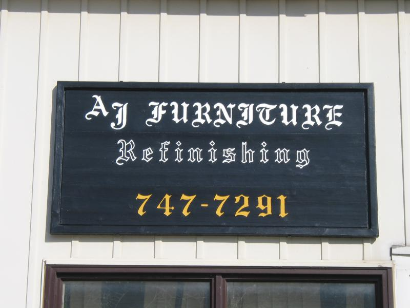 Charmant Refreshed AJ Furniture Refinishing Sign Refreshed AJ Furniture Refinishing  Sign